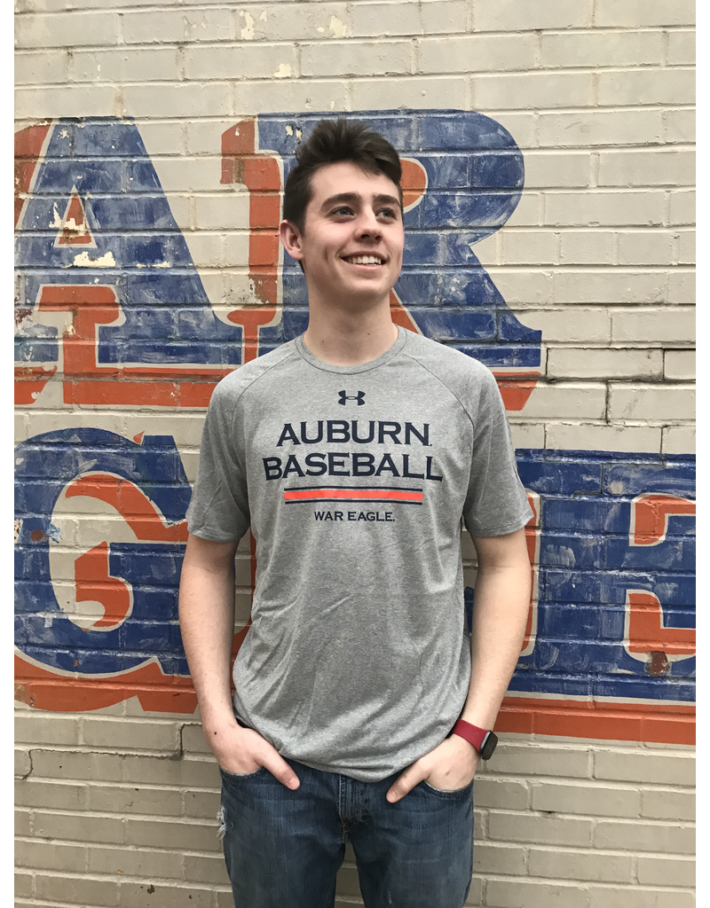 Under Armour Auburn Baseball War Eagle Stripe Tech T-Shirt