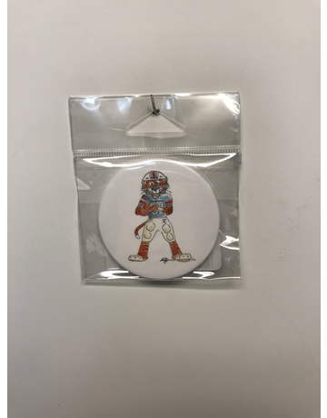 Watercolor Aubie Football Button