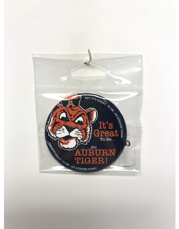 VIntage Aubie It's Great to be an Auburn Tiger Button