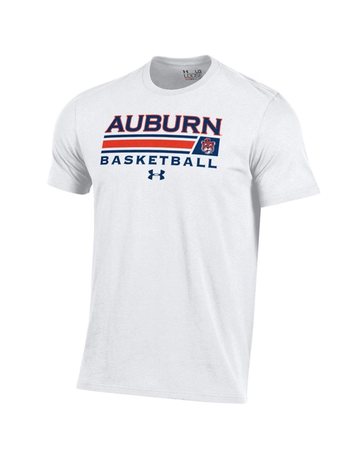 Under Armour Auburn Basketball w/ Accent Bar Aubie T-Shirt