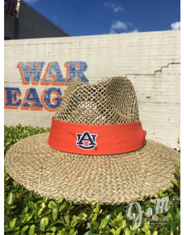The Game AU Straw Hat with Orange Band
