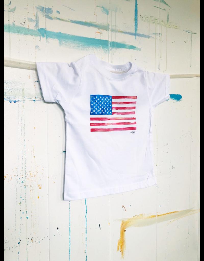 Watercolor Flag Toddler T-Shirt