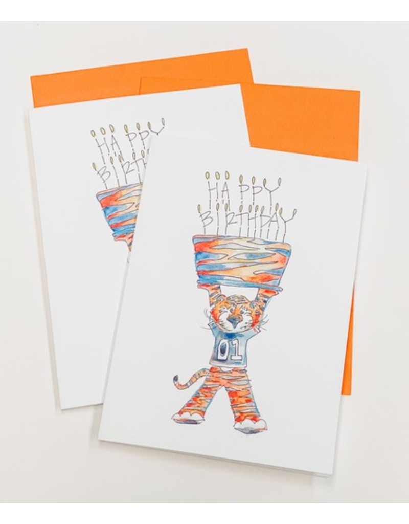 Aubie Happy Birthday Pack of 4 Cards