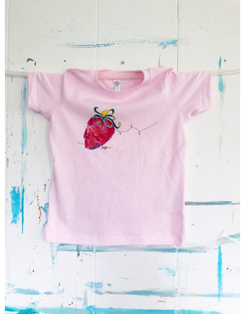 Watercolor Strawberry Youth T-Shirt