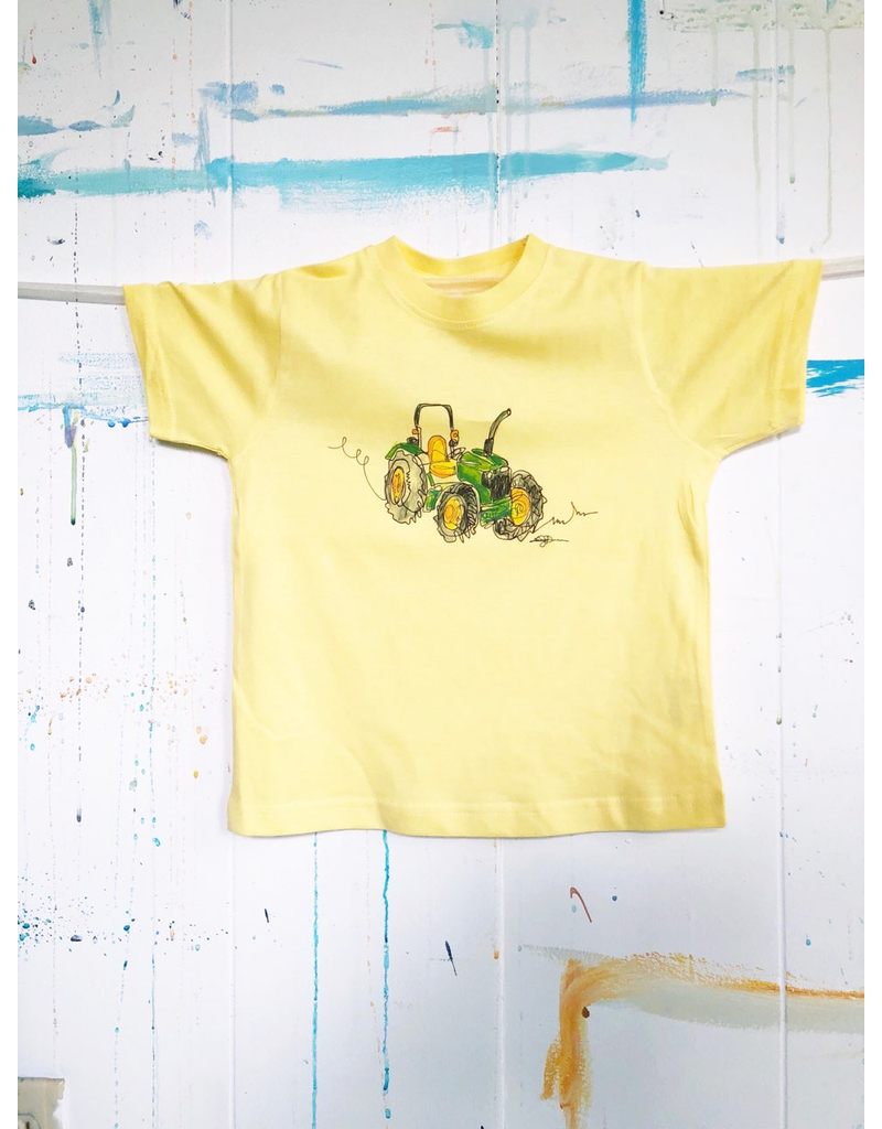 Watercolor Tractor Toddler T-Shirt