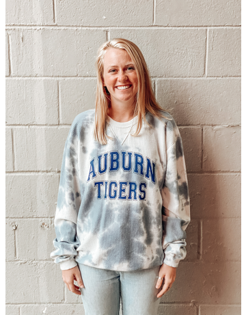 League Auburn Tigers Storm Tie Dye Crew