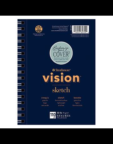 "Vision Sketch paper pad 9""x12"" 110 sheets"