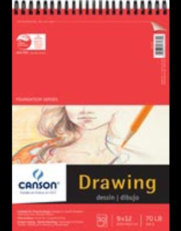 Foundation Drawing Pad 70Lb 30Sh  9X12