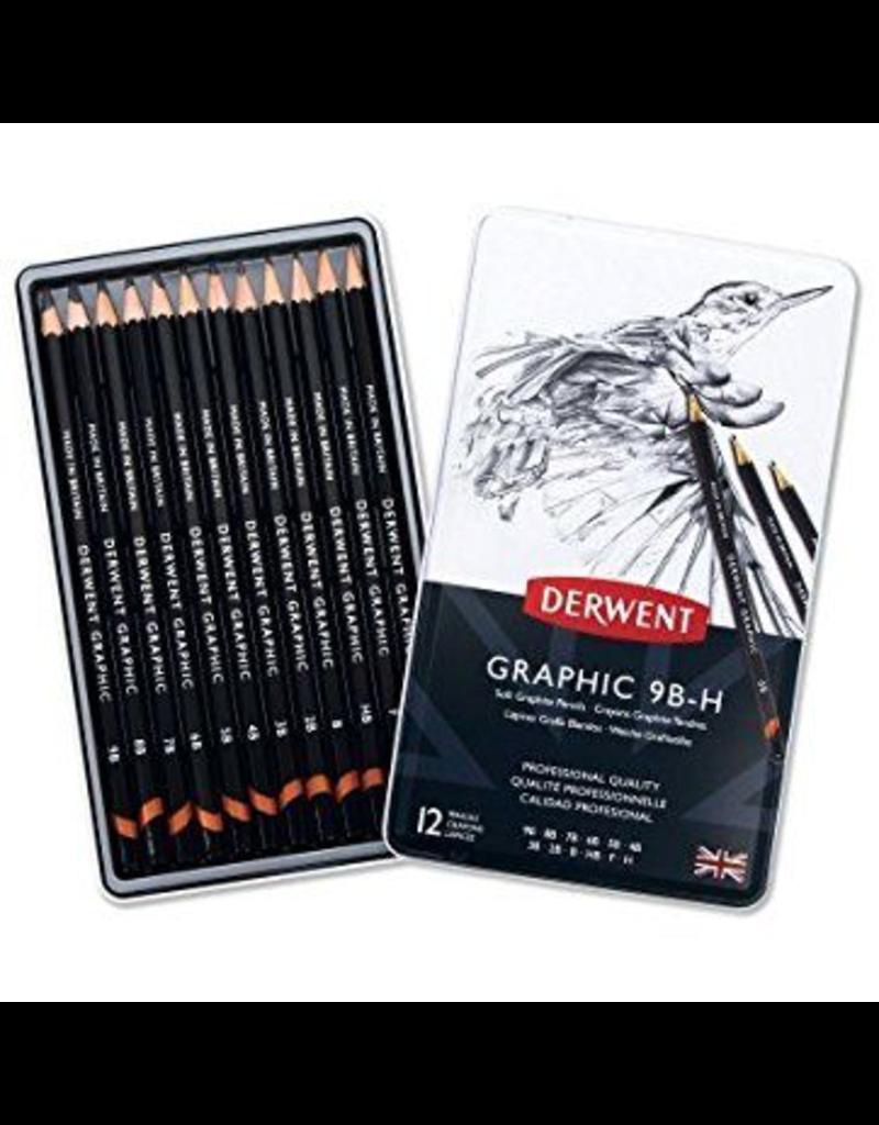 Graphic Sketching Pencil 12 set tin 9B-H