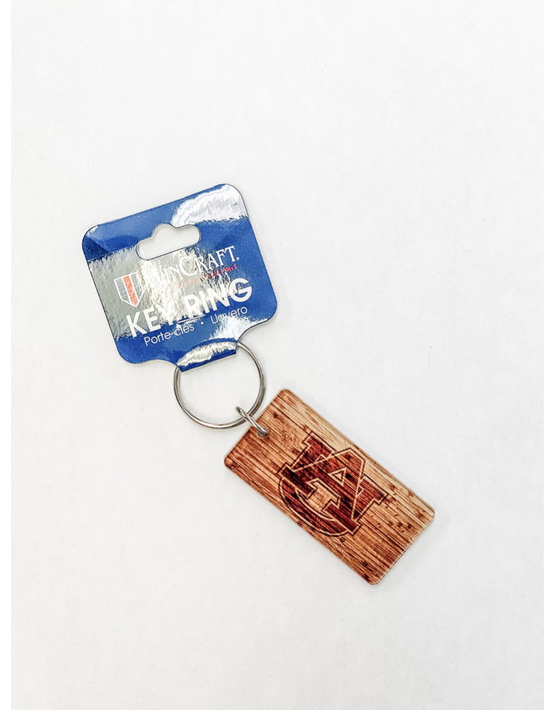 AU Wood-Design Rectangle Keychain