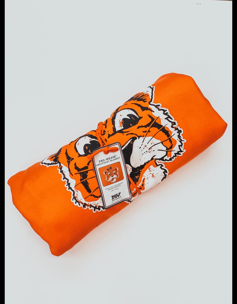 MV Sport Old Aubie Sweatshirt Blanket Orange