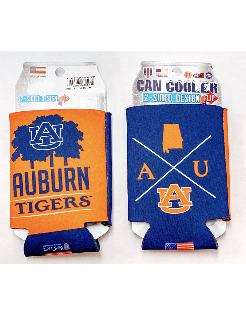 AU Quadrant Auburn Tigers 2-Sided Can Koozie