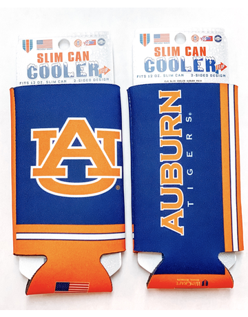 AU Auburn Tigers 2-Sided Slim Can Koozie