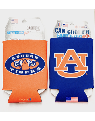 AU Tiger Eyes Two-Sided Can Koozie