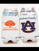 Auburn Family AU Auburn Oaks 2-Sided Can Koozie