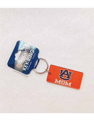 Rectangle AU Mom Orange Keychain