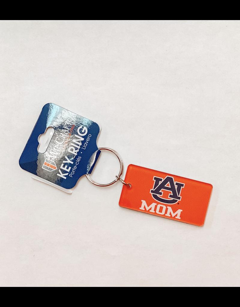 Rectangle AU Mom Orange Keychain