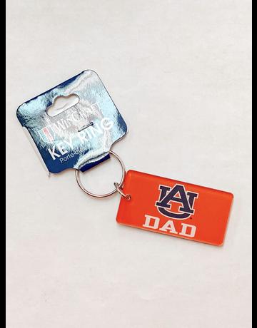 Rectangle AU Dad Orange Keychain