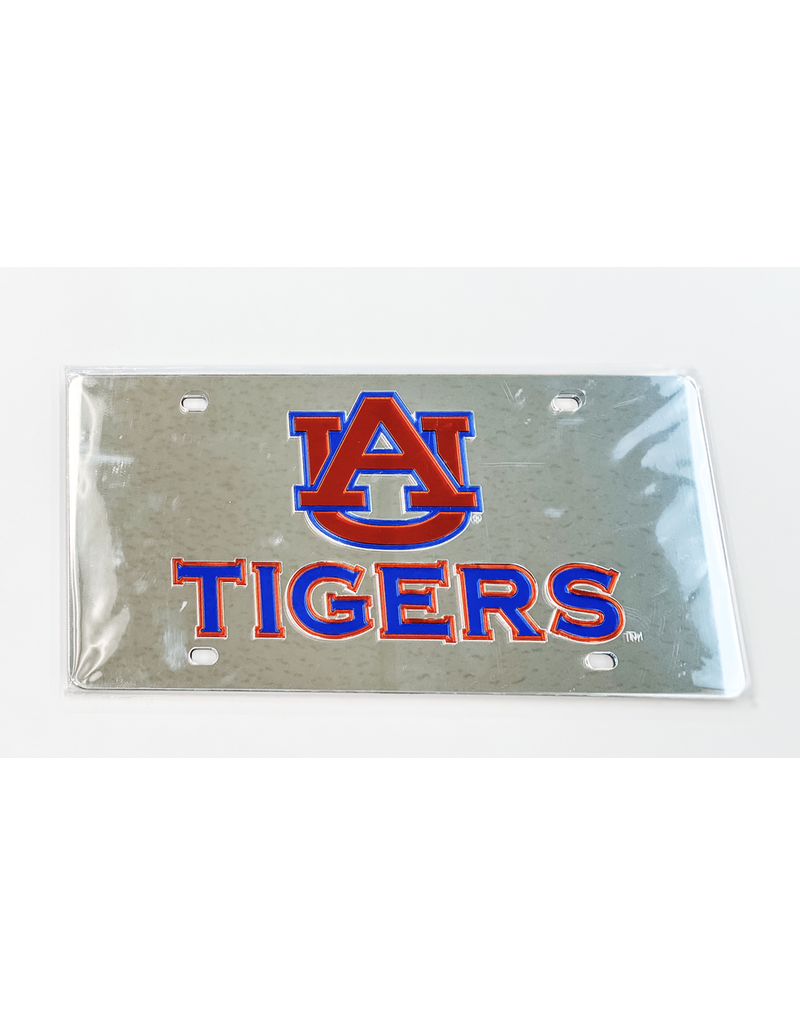 AU Tigers Mirror Plastic Plate, Silver