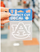White Outline Clear AU Perfect Cut Decal