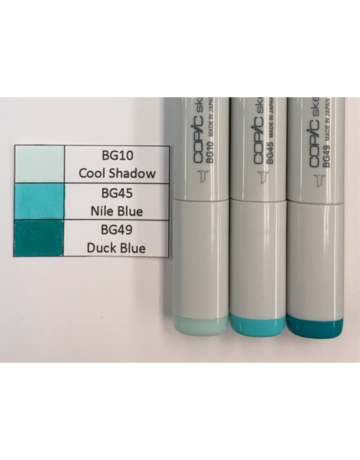 Copic Marker Set-Blue Green BG10, BG45, BG49
