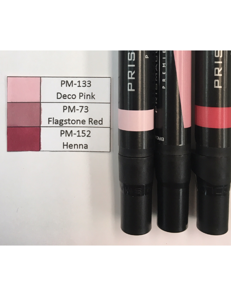 Prismacolor Red Graded Set 2-PM-133, PM-73, and PM-152
