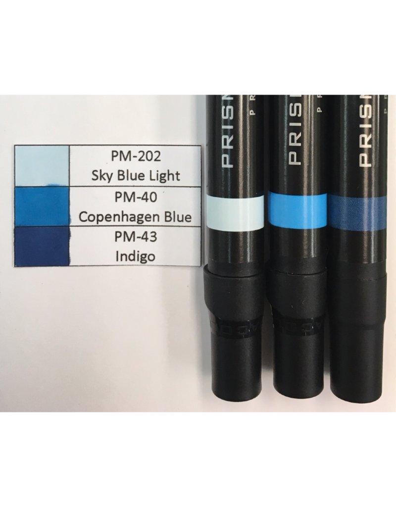 Prismacolor Blue Graded Set-PM-202, PM-40,and PM-43