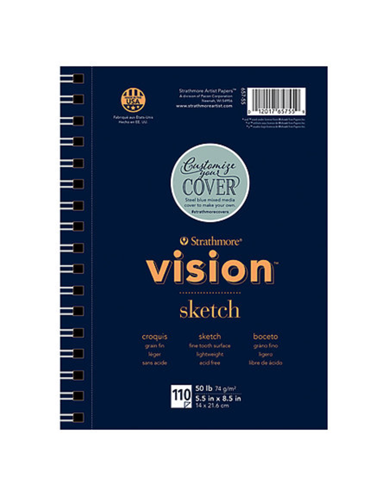 Vision Sketch Paper Pad 5.5x8.5 110 sheets wire bound