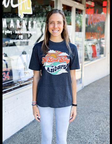 No Bad Days At Auburn Vintage Print T-Shirt