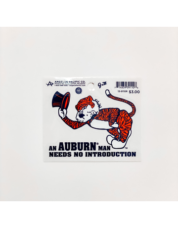 An Auburn Man Needs No Intro Decal