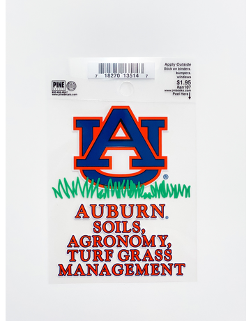 Soils Agronomy turf grass Decal