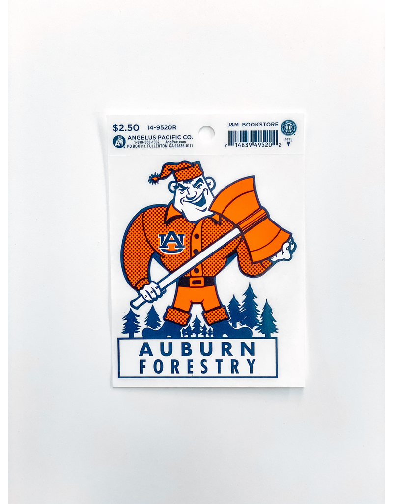 Forestry Axe Man Decal