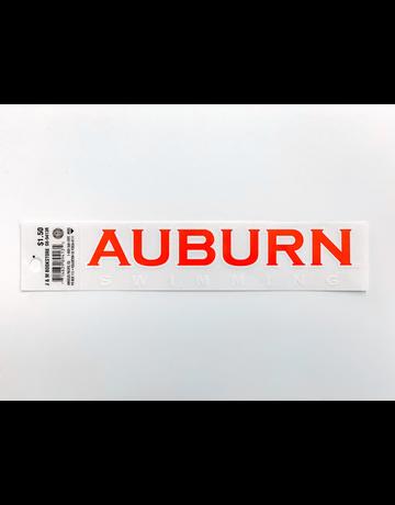 Block Auburn Swimming Decal