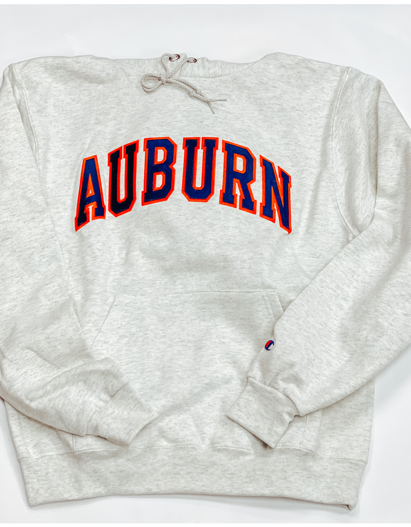 Arch Auburn Embroidered Fleece Hoodie - Oatmeal