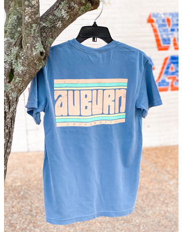 Auburn Funky Stripes Retro T-Shirt