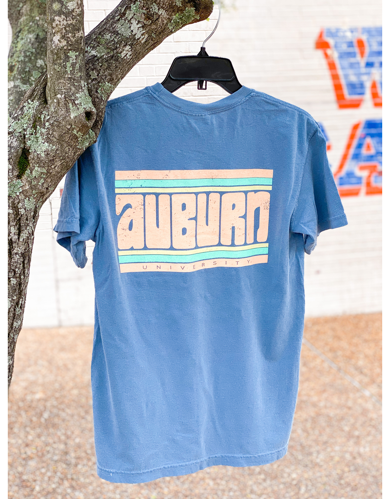 Auburn Funky Stripes Retro T-Shirt
