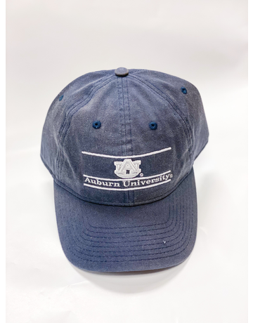 The Game White Print AU Auburn University Bar Navy Hat
