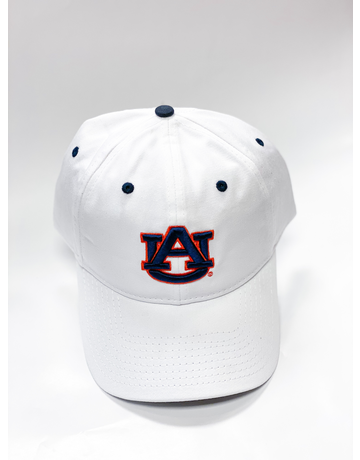 The Game White AU Hat with Navy Eyelets