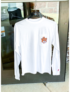 League Big Auburn Tigers Vintage Aubie Long Sleeve Pocket T-Shirt
