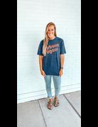 Retro Letters Auburn Tigers Good Times T-Shirt