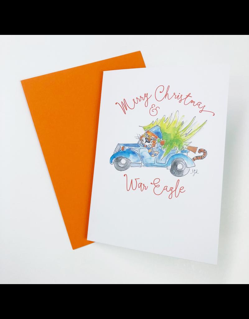 Aubie Clause Christmas Card