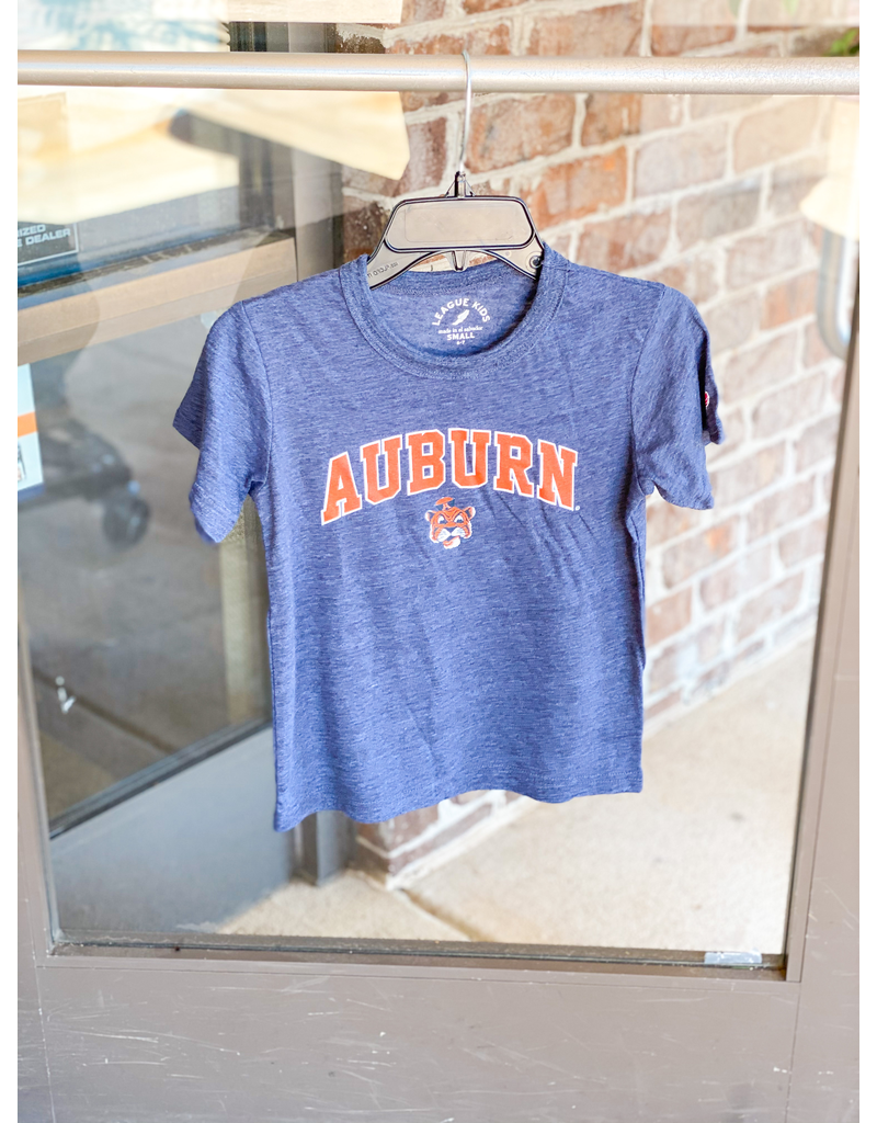 League Arch Auburn Vintage Aubie Youth Victory Falls Tee