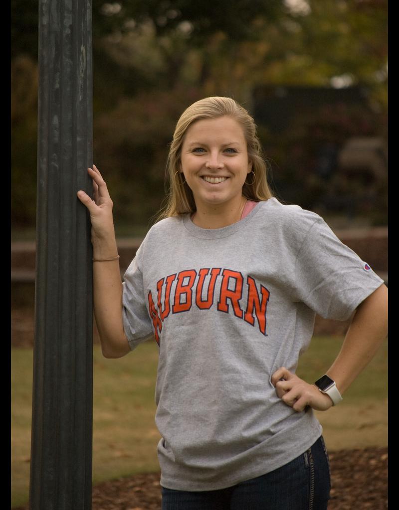 Block Auburn T-Shirt - Oxford Grey