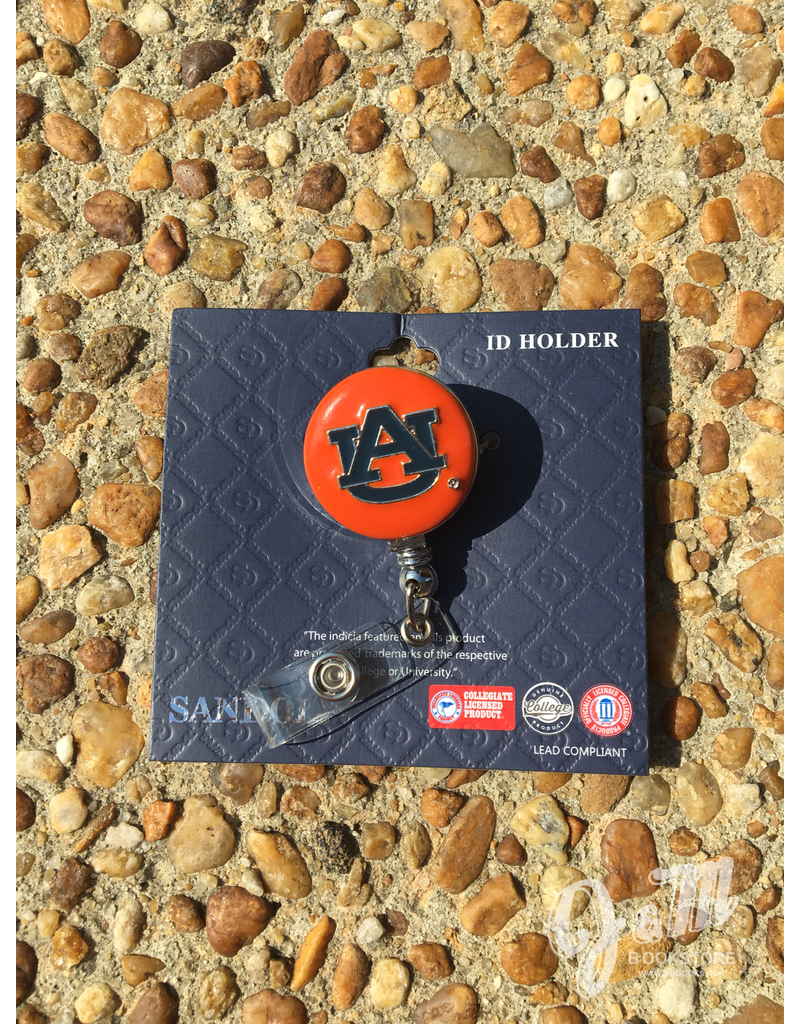 AU Retractable Badge Holder Orange
