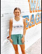 League Quad Auburn Outline Storm Dye Print Tank Top