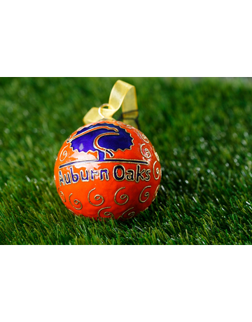 Auburn Oaks Orange Ornament with Navy