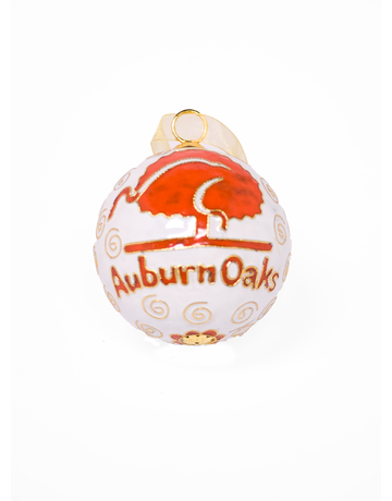 White Auburn Oaks Ornament