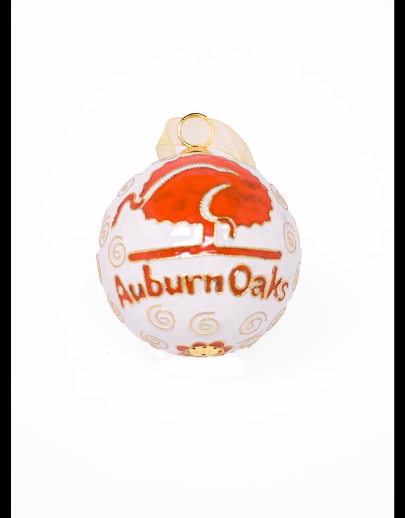 White Auburn Oaks Ornament