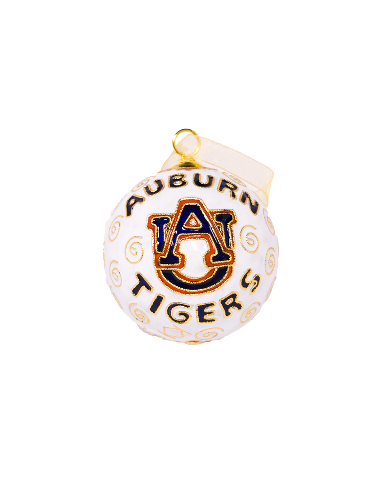 Auburn Tigers AU White Ornament