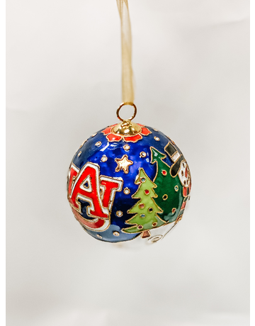AU Christmas Scene with Snowmen Ornament